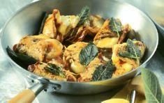 Σνίτσελ με γραβιέρα και φασκόμηλο Sprouts, Favorite Recipes, Chicken, Meat, Vegetables, Food, Link, Veggies, Essen