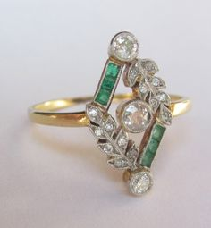 UNIQUE Antique Edwardian Old Mine DIamond by magwildwoodscloset, $999.00