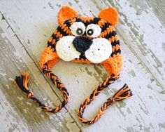 CROCHET PATTERN Tiger Earflap Hat all sizes PDF 53. $3.99, via Etsy.