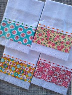 Kitchen Towels Crafts, Towel Crafts, Dish Towels, Tea Towels, Guest Towels, Patch Quilt, Baby Sewing Projects, Sewing Crafts, Baby Sheets