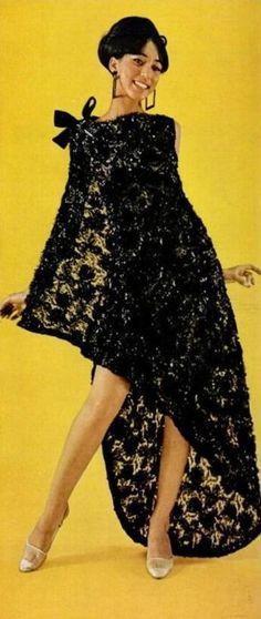 Pat Cleveland. Ebony's 1966 Fashion Fair Colorballoo, 9th Annual Fashion Show, U.S. City Schedule