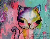 kitty. a happy little kelly barton print. $22.50, via Etsy.