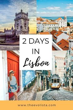 The Best 2 Days in Lisbon Itinerary - THE EVOLISTA - - Only have 2 days in Lisbon? Here's the perfect Lisbon itinerary to make sure you don't miss anything important including cool local hot spots. Visit Portugal, Portugal Travel, Spain And Portugal, Portugal Trip, Portugal Vacation, Italy Vacation, Places In Europe, Europe Destinations, Honeymoon Destinations