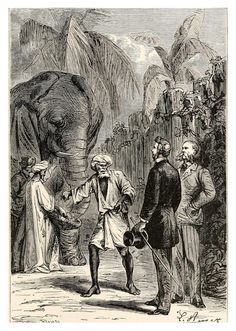 Leon Benett Illustration from Around the World in Eighty Days