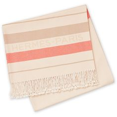 Hermès Rocabar Throw ($540) ❤ liked on Polyvore featuring home, bed & bath, bedding, blankets, fillers, home accessories, cotton blanket, cotton throw blanket, cotton bedding and cotton throw