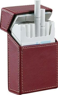 New - Rogue Red Leather Cigarette Case - VCM104 by Visol. $23.95. Great Gift Idea.. Manufactured to the Highest Quality Available.. Design is stylish and innovative. Satisfaction Ensured.. Ideally shaped for the easiest storage of cigarettes yet, this amazing genuine leather cigarette case stores an entire pack of cigarettes, hard box included, right inside. It lifts when opened to provide easy access to two rows of cigarettes, bringing comfort and style to cigarette...