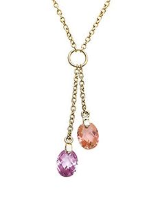 Little Miss Twin Stars 'Classic!' 14K Plated & Crystal Necklace