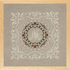 Includes natural linen, floss, needle and instructions in English. 4 x 8 inches. Half cross, or petit point.