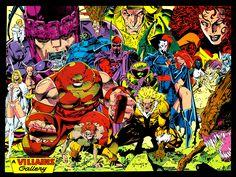 A Villains Gallery featuring several of the X-Men villains