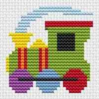 Sew Simple Tractor cross stitch kit from Fat Cat Cross Stitch Finished size approx 7.8cm x 6.4cm. Kit contains 11ct white aida fabric, stranded embroidery cotton, needle, colour chart and instructions. A brand new kit will be sent directly to you by Fat Cat Cross Stitch - usually within 2-4 working days © Fat Cat Cross Stitch