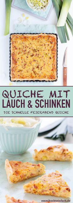 Quiche mit Lauch und Schinken - www.emmikochteinfach.de