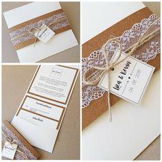 Eine neue Hochzeitseinladung ganz in creme und kupfer