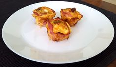Vegetable and bacon eggs in muffin pan