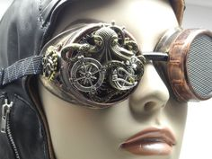 Steampunk Goggles Octopus Industrial Cyber by SimpleDiversions