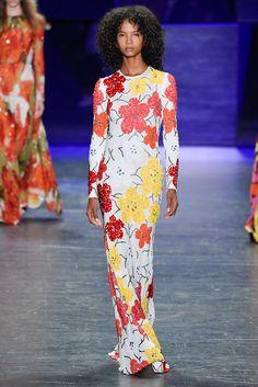 Nice idea for a tee-shirt maxi dress | Naeem Khan, S/S 2017