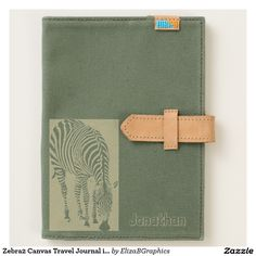 Zebra2 Canvas Travel Journal iPad Mini Case  #journal #moleskine #moleskin…