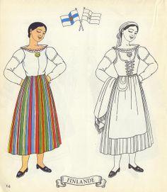 Jolis Costumes:  Album a Decouper, Composer, Colorier / eurocolor p14: Finland   Flickr - Photo Sharing!
