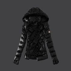 Cheap Moncler Down Coats Women 2013 Style Black DC302404 Moncler