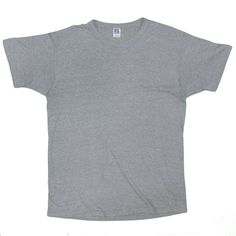 0fe6951e67143 Russell Athletic Men s T-Shirt Large Vintage Gray Blank Short Sleeve Made  in USA 1990 s