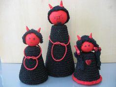 Papa Teufel und seine beiden Kinder