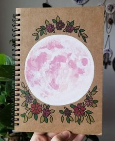 nnabell Larsh on Instagra Cute Sketches, Crystal Box, Aesthetic Photography Nature, Pink Moon, Painted Boxes, Journal Covers, Hand Lettering, Mystic, Art Drawings