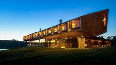 The Tierra Chiloe's dramatic design overlooks the water and offers amazing views.