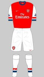 2012-2013 Arsenal Kit