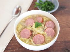 Cabbage is rarely described as tasting rich, but when simmered long and slow with plenty of butter and olive oil, that's exactly the outcome. Although buttery, slow-simmered cabbage can be a dish in itself, add broth and sausage and you'll get a very simple soup with incredibly rich, comforting flavor. When cooking cabbage this way, […]