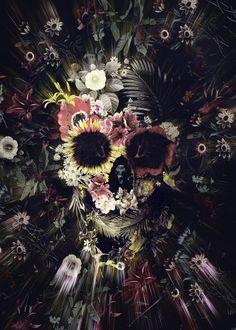 Garden Skull Art Print by ALI GULEC