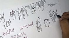 DOODLE IDEAS for bullet journals and planners