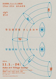 Japanese Exhibition Poster: The View From Between the Legs. Satoshi Kondo / Maki Nakano. 2014