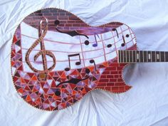RED ROCKER MOSAIC Guitar by racman on Etsy Love this!!