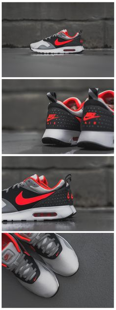 Nike Air Max Tavas: Bright Crimson.  Wish we had these here