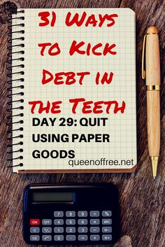 Sign up for daily simple tips to get your finances under control from someone who paid off $127K in debt. Today, why paper goods may killing your budget. Debt, Debt Payoff #Debt