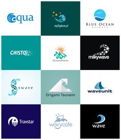 A Showcase of 30 Creative Wave Logos
