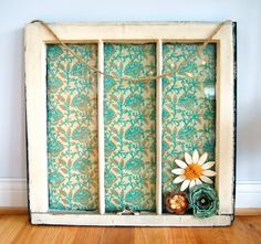 add a piece of wodd for a bottom shelf adorable...Vintage Window with stars and stripes