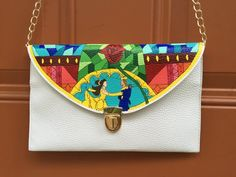 Hand painted Beauty & The Beast Clutch