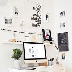Wall space isn't just for storage...here it is used for motivational sayings.    Photo from Smead Organamics