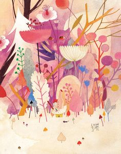 Eunsil Chun - A very talented illustrator with just the right amount of whimsy. Can I have all her prints, please? Children's Book Illustration, Watercolor Illustration, Art Design, Book Design, Affinity Designer, Illustrations And Posters, Illustrators, Concept Art, Art Gallery