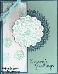 Peacock Snowflake by Michelerey - Cards and Paper Crafts at Splitcoaststampers