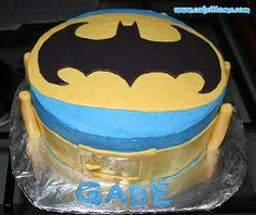 Cake Designs for Kids Birthdays -  Batman Cake #cakedesigns