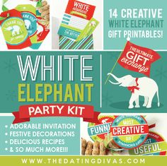 White Elephant Party Pack