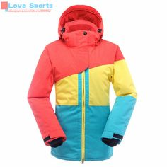 High Quality Outdoor Sports Women Winter Clothes Genuine Warm Ski Jacket Windproof Waterproof Cotton Coat Snowboarding