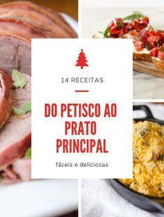 14 receitas para a ceia de natal Carne, Christmas Time, Mousse, Food To Make, Picnic, Food And Drink, Cooking Recipes, Beef, Dinner