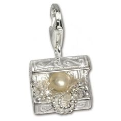 SilberDream Charm gr  SilberDream Charm gray pearl white Zirconia 925 Sterling Silver Pendant Lobster Clasp FC227W -- You can find more details by visiting the image link. (This is an affiliate link and I receive a commission for the sales)