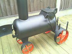 Train wood burner