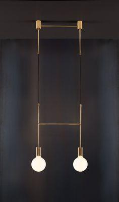 """Side Step"" - Lighting, Minimal, Brass, Contemporary, Cafe, LED."