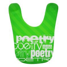 Poetry; Neon Green Stripes