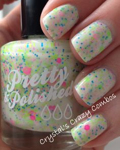 Crystal's Crazy Combos showing off Pretty & Polished Popples! #prettyandpolished #nailpolish #indie #popples #neonglitter #vegan