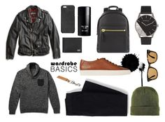 """""""Wardrobe Basics: Menswear"""" by modernandsmash ❤ liked on Polyvore featuring J.Crew, Lucky Brand, Tom Ford, Common Projects, Lands' End, Dolce&Gabbana, Michael Kors, A.P.C., Ray-Ban and BoohooMAN"""